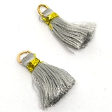Tassel 25mm Grey incl Ring 2 pack-tassels-Beadthemup