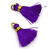 Tassel 25mm Amethyst Purple incl Ring 2 pack-tassels-Beadthemup