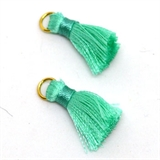 Tassel 25mm Light Teal incl Ring 2 pack-tassels-Beadthemup