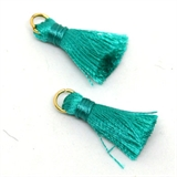 Tassel 25mm Teal incl Ring 2 pack-tassels-Beadthemup