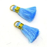 Tassel 25mm Blue incl Ring 2 pack-tassels-Beadthemup