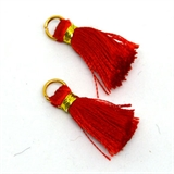 Tassel 25mm Red incl Ring 2 pack-tassels-Beadthemup
