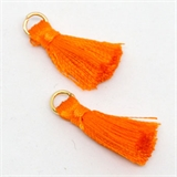 Tassel 25mm Orange incl Ring 2 pack-tassels-Beadthemup