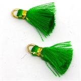 Tassel 25mm Green incl Ring 2 pack-tassels-Beadthemup