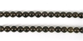 Smokey Quartz Polished Round 12mm strand 32 beads -beads incl pearls-Beadthemup