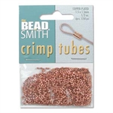 Copper plate Base Metal Crimp 1.5mm small approx 800 pieces-findings-Beadthemup