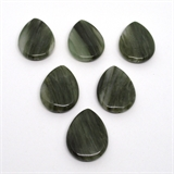 Green Line Agate Teardop 40x30mm Bead Natural-beads incl pearls-Beadthemup