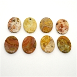 Jasper Polished Flat Oval 40x30mm Bead-beads incl pearls-Beadthemup