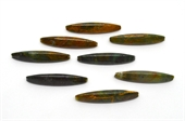 Green Jasper 3 sided Polished Olive 60x10mm Bead-beads incl pearls-Beadthemup