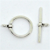 Sterling Silver Toggle 17mm ring 1 pack-findings-Beadthemup