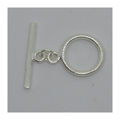 Sterling Silver Toggle brushed 17mm ring 1 pack