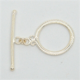 Sterling Silver Toggle 22mm ring 1 pack-findings-Beadthemup