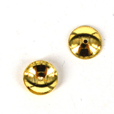 14k Gold filled Cap 6mm 6 pack