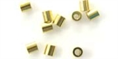 Gold plt S.Silver crimps 0.6mm wire LRG 20 pk-stringing-Beadthemup