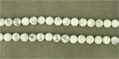 Howlite Polished Round 12mm Strand 33 beads per strand-beads incl pearls-Beadthemup