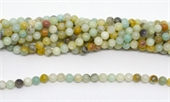 Amazonite polished Round 6mm strand  64 beads-beads incl pearls-Beadthemup