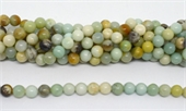 Amazonite polished Round 10mm strand 39 beads-beads incl pearls-Beadthemup