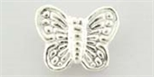 Sterling Silver Bead Butterfly 10x8mm center hole 2 pack-heart, flower, animal and star-Beadthemup