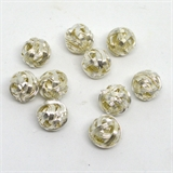 Silver plate Base wire ball 14mm 10 pack-findings-Beadthemup