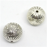 Base metal CCB 26mm Bead Round 2 pack-findings-Beadthemup
