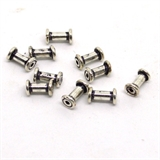 Silver plate Copper bead tube 8mm 10 pack-findings-Beadthemup