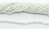 Chinese Crystal White AB 6x4mm strand 88 beads-beads incl pearls-Beadthemup