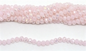 Chinese Crystal pale pink AB 8x6mm strand 67 beads-beads incl pearls-Beadthemup