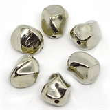 Base Metal Bead Oval 17x13.mm 6 pack-findings-Beadthemup