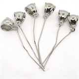 Base Metal Bail with pin 65mm total 6 pack-findings-Beadthemup