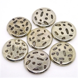 Base Metal flat round 30x6mm 2 pack-findings-Beadthemup