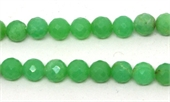 Chrysophase Faceted round 6mm EACH BEAD-beads incl pearls-Beadthemup