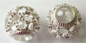 Sterling Silver Bead Round 11x10mm 5mm hole 1 pack-beads and spacers-Beadthemup