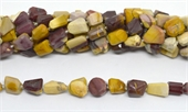Mookaite Faceted Nugget approx. 10-14mm beads Strand 25 beads-beads incl pearls-Beadthemup