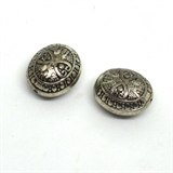 Base Metal Bead 20mm Carved 2pk-findings-Beadthemup