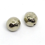 Base Metal Bead 20mm Bead Filigree pattern 2pk-findings-Beadthemup