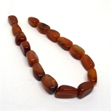 Carnelian Polished Nuggetapprox. 25mm 15 beads per strand-beads incl pearls-Beadthemup