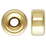 14k Gold filled Rondel 8mm 2 pack-findings-Beadthemup