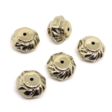 Base Metal Rondel Bead 20x10mm 5 pack-findings-Beadthemup