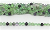 Flourite Polished Round 6mm strand 63 beads-beads incl pearls-Beadthemup