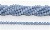 Angelite Polished Round 6mm beads per strand 63 Beads-beads incl pearls-Beadthemup