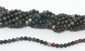 Bloodstone Polished Round 6mm beads per strand 63 Beads-beads incl pearls-Beadthemup