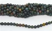 Bloodstone Polished Round 8mm beads per strand 47 Beads-beads incl pearls-Beadthemup