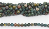 Bloodstone Polished Round 10mm beads per strand 37 Beads-beads incl pearls-Beadthemup