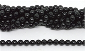 Black Obsidian Polished Round 8mm strand 47 beads-beads incl pearls-Beadthemup