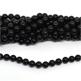 Black Obsidian Polished Round 10mm strand 37 beads-beads incl pearls-Beadthemup