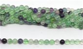 Flourite Polished Round 8mm strand 47 beads-beads incl pearls-Beadthemup