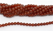 Carnelian A Polished Round 6mm strand 63 beads-beads incl pearls-Beadthemup