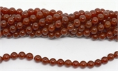 Carnelian A Polished Round 8mm strand 47 beads-beads incl pearls-Beadthemup