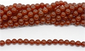 Carnelian A Polished Round 10mm strand 37 beads-beads incl pearls-Beadthemup
