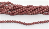 Rhodonite Polished Round 6mm strand 63 beads-beads incl pearls-Beadthemup